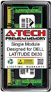 A-Tech 2GB RAM for DELL Latitude D630   DDR2 667MHz SODIMM PC2-5300 200-Pin Non-ECC Memory Upgrade Module