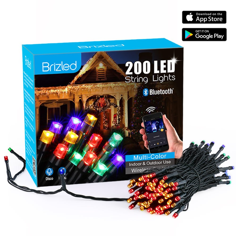 Amazon brizled dimmable led string lights 200 led 65ft mini amazon brizled dimmable led string lights 200 led 65ft mini string lights bluetooth led lights controlled by ios android devices aloadofball Images