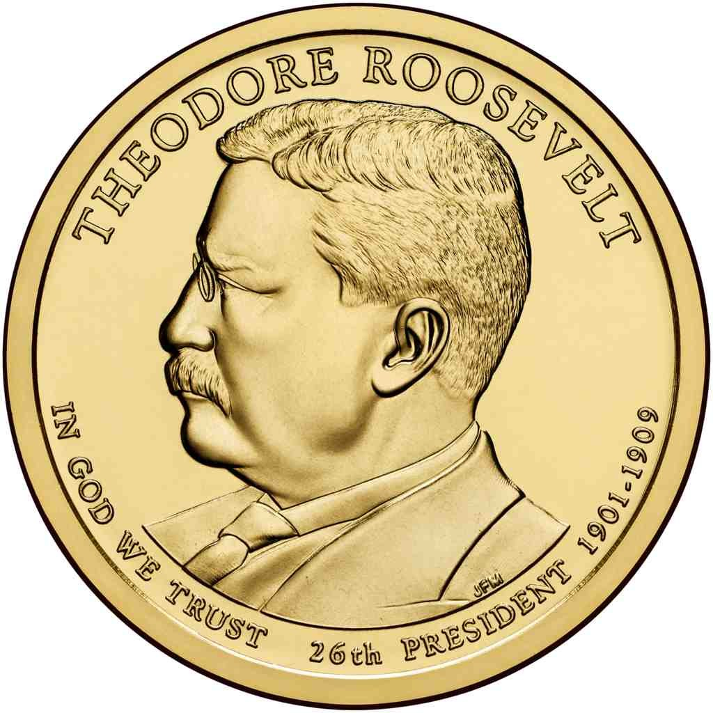 Mint Rolls Money 2013 D Theodore Roosevelt Presidential One Dollar Coins U.S