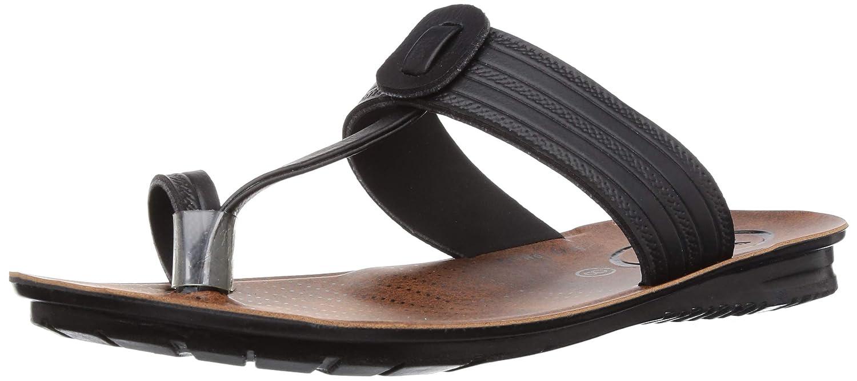 Paragon Vertex Mens Black Flip-Flops
