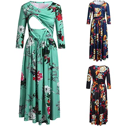 3acba5b159687 Nacome_Promotion Breastfeeding Dress,Floral Labor Delivery Maternity  Nursing Dress Pregnancy Gown Hospital XX-Large Green: Amazon.in: Home &  Kitchen