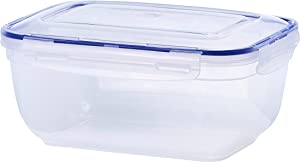 Superio Food Storage Container, Airtight Leak Proof Meal Prep Containers, Rectangle Shape, Microwave and freezer safe, BPA-free Plastic, 2.50 Qt.