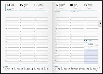 Glocken Taschenkalender Faltkalender 2020 schwarz