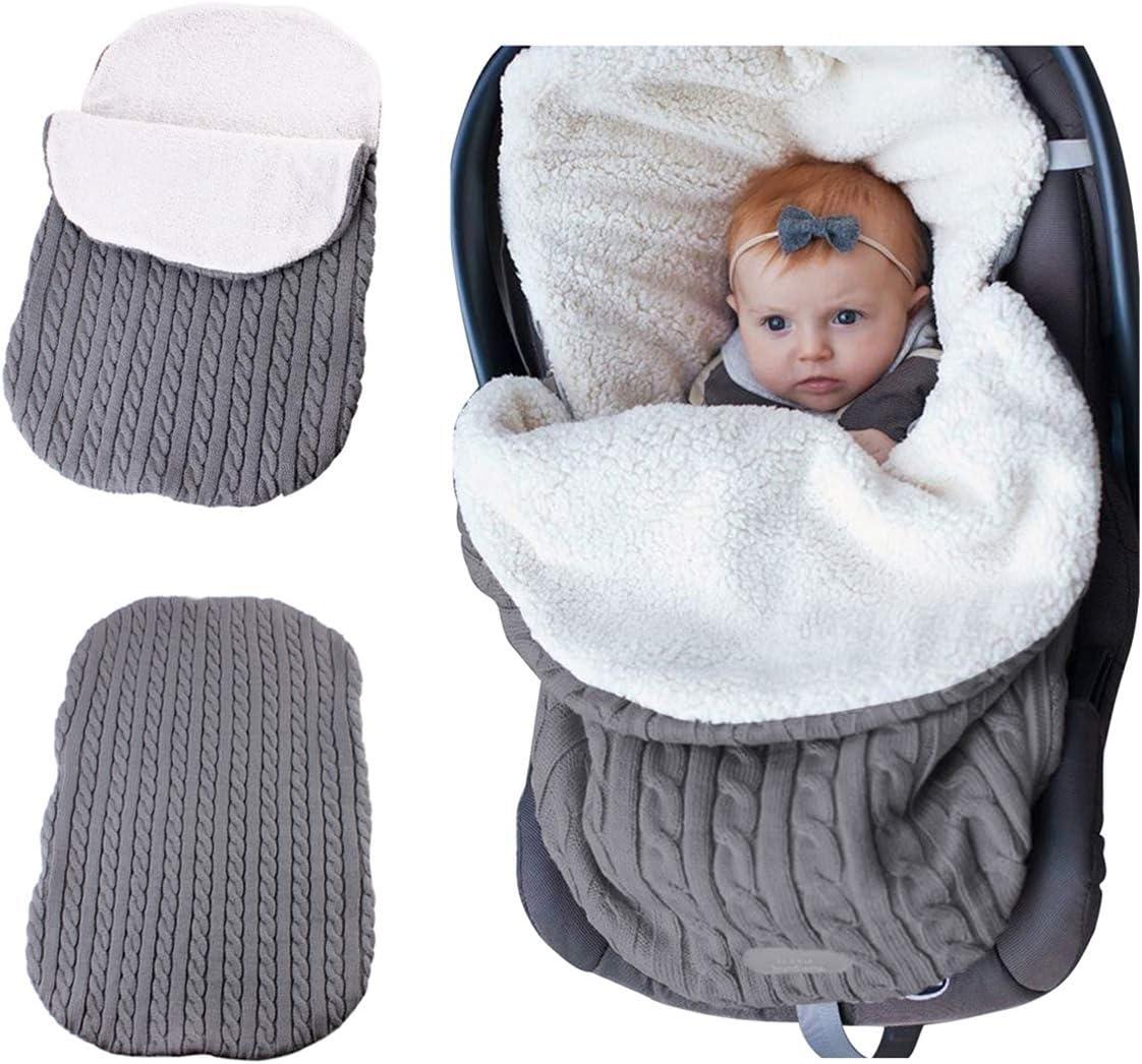 Manta de ganchillo para bebé gris gris