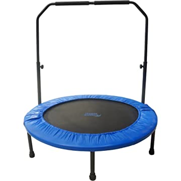 top selling Upper Bounce Mini Foldable Rebounder Fitness Trampoline with Adjustable Handrail