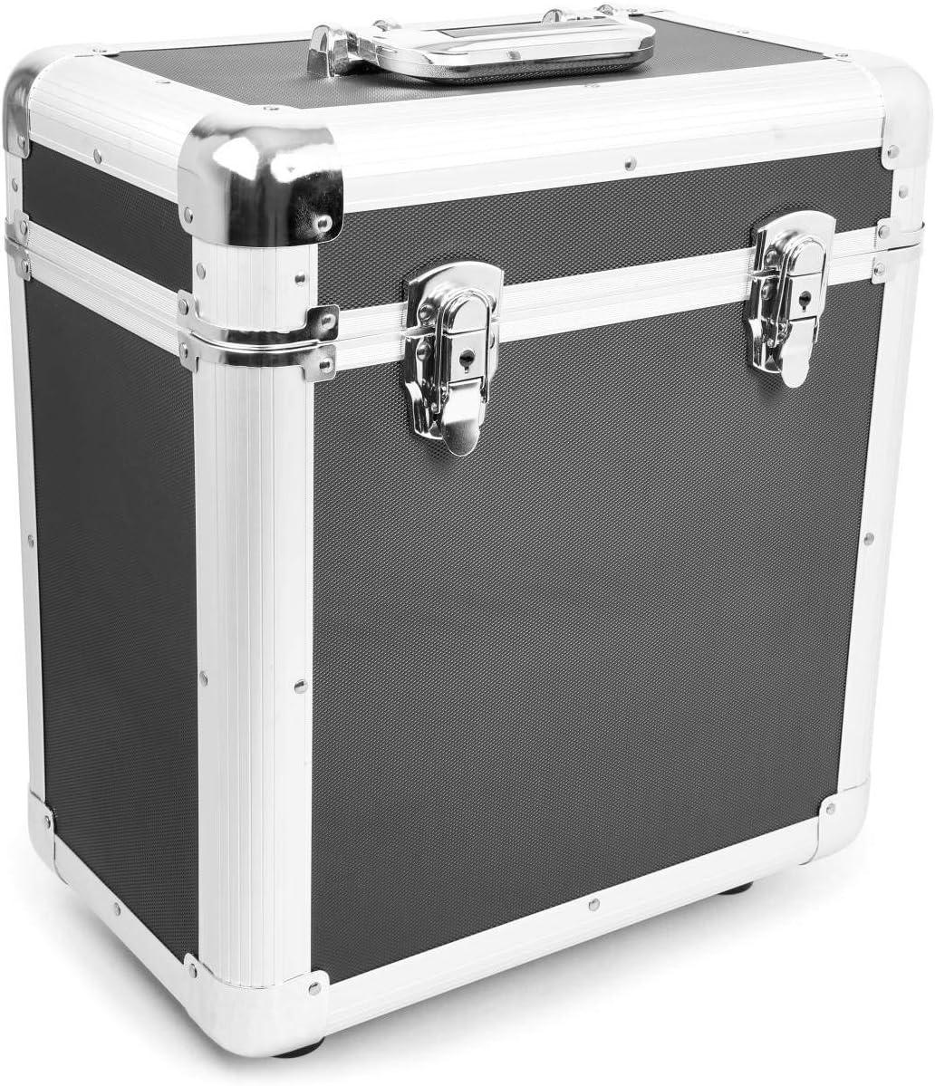Power Dynamics RC80 Maleta para discos de vinilo (rack portátil para 80 discos LPs de 12