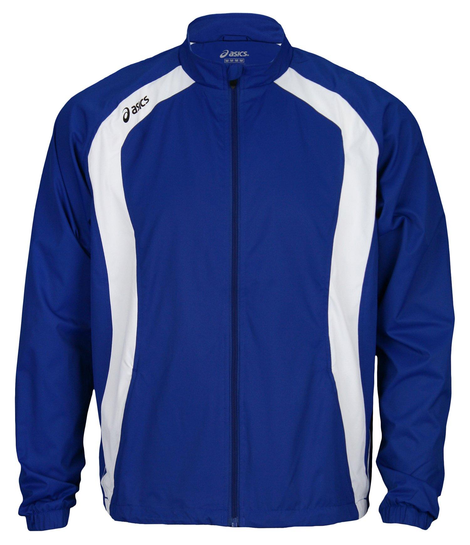 Asics Jr. Caldera Youth Warm Up Jacket (X-Large, Royal/White)
