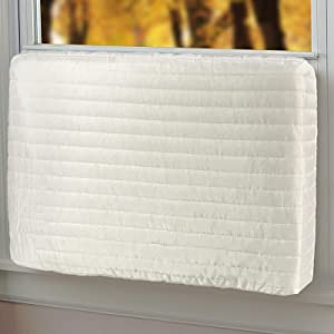 "Qualward Indoor Air Conditioner Cover Window AC Unit Covers for Inside (17"" W x 13"" H x 3.5"" D)"