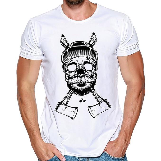 Manadlian_Camiseta Hombres Manga Corta, Camisetas Hombre Diseñar Verano Personalidad Casual Remera Slim Moda Manga Cortos Camisas: Amazon.es: Ropa y ...