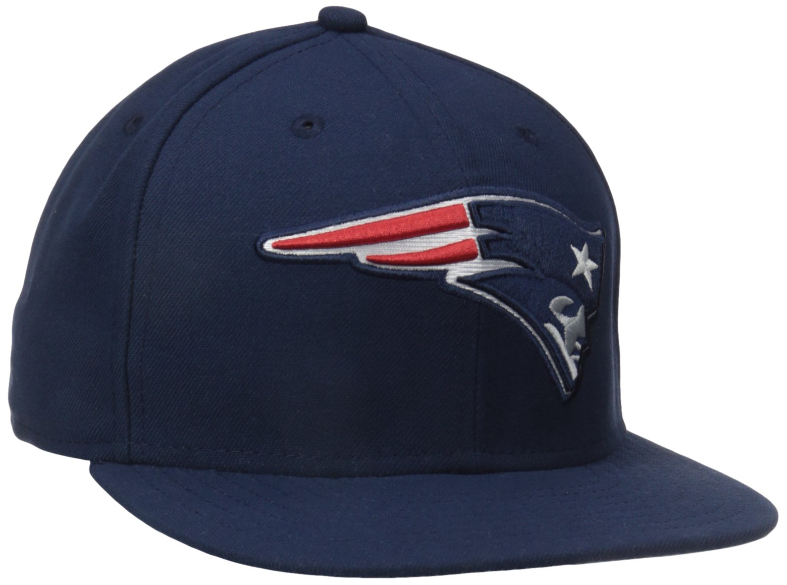 NFL New England Patriots On Field 5950 Game Cap, Navy, 7 3/8
