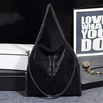 Amazon.com: Women Bag PU Leather Fashion Chain Womens Messenger Shoulder Bags Bolsa Feminina Carteras Mujer Handbags Womens Totes Black: Shoes