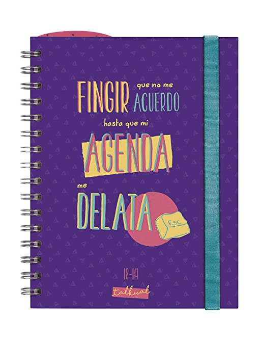 Finocam Talkual - Agenda 2018-2019 semana vista apaisada español, 155 x 215 mm