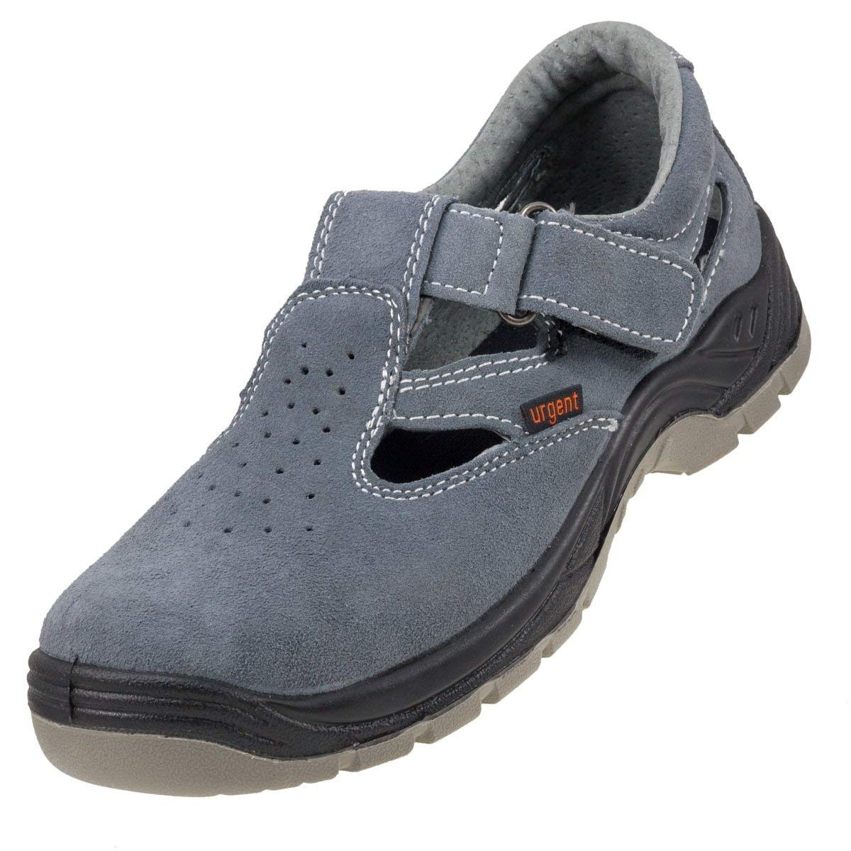 Lightweight Safety Sandals Grey Anti Static Slip Resistant Steel Toe Cap 302S1
