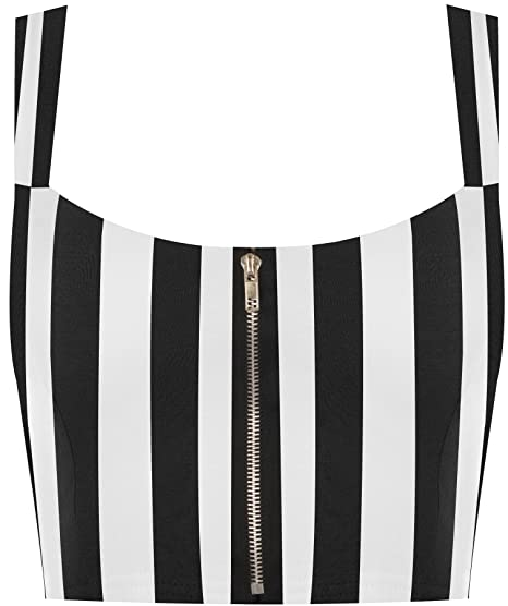dca7d8edb6 Image Unavailable. Image not available for. Color  WearAll Women s Aztec  Print Padded Bralet - Zebra - US 4-6 (UK 8