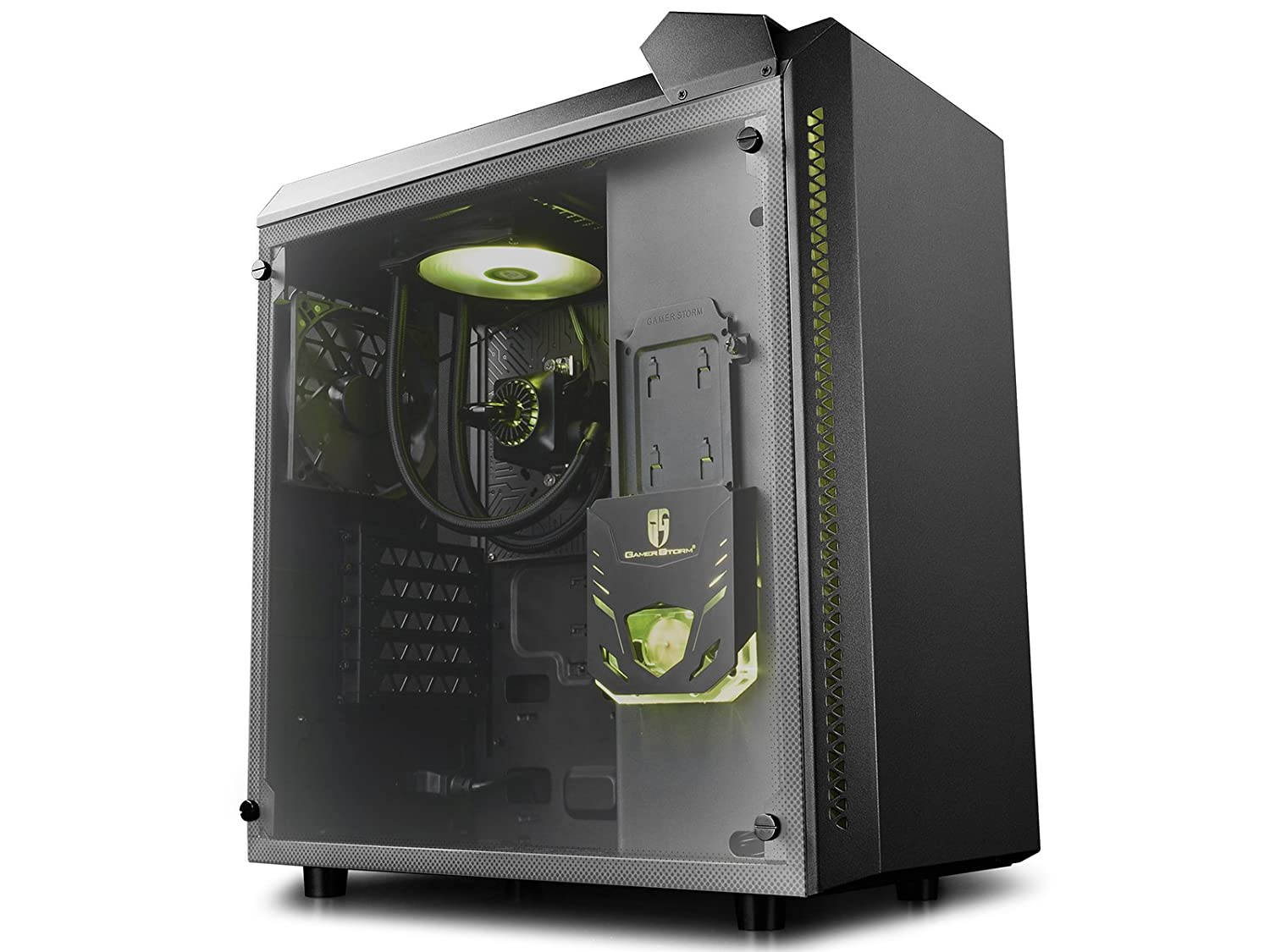 PRE-ORDER of DEEPCOOL BARONKASE LIQUID PC Case, MATX Size Supports ATX Motherboard, Pre-installed Integrated Liquid Cooling RGB System with 120mm Radiator, ...