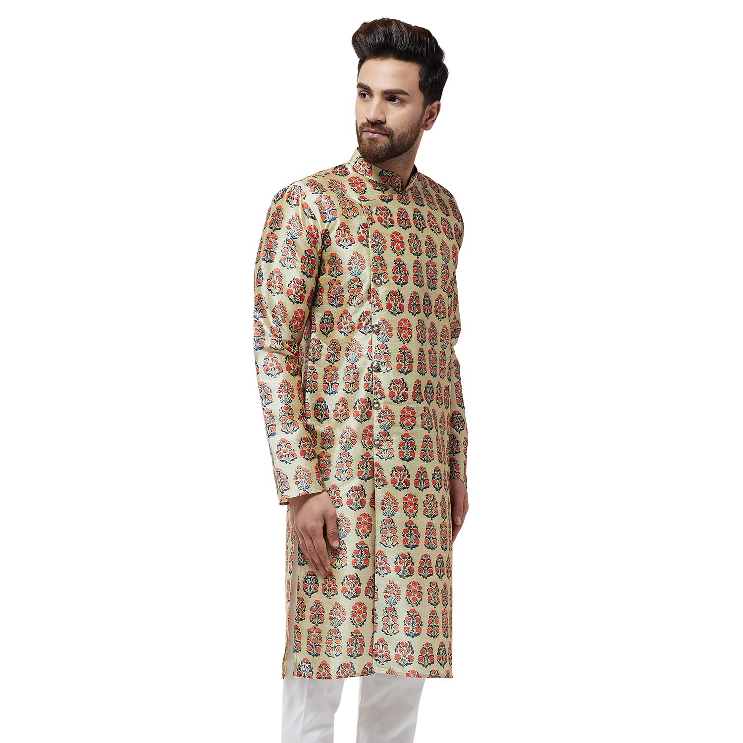 Festival-Men-Dupion-Silk-Kurta-Pajama-Ethnic-Party-Wear-Bollywood-Dress-Pyjama thumbnail 39