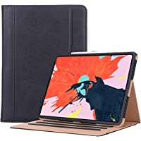 ProCase iPad Pro 12.9 2018 Protective Case, Vintage Stand Folio Case Cover for iPad Pro 12.9 Inch 2018 Release, with Multiple Viewing Angles, Auto Sleep/Wake, Apple Pencil Holder –Black