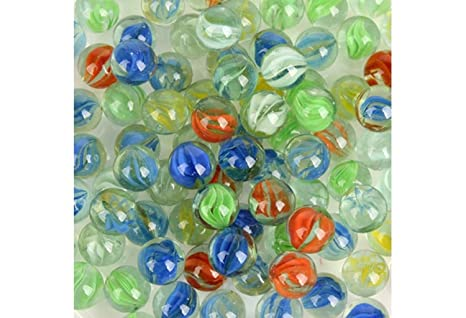 Smartbuyer150 Pcs Marbles 8mm Green Knicker Glass Balls Decoration