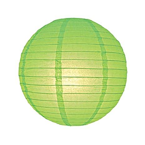 6716-LL 40 cm luz verde linterna de papel pantalla para ...