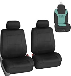 FH Group FB083102 Neoprene Seat Covers (Black) Front Set with Gift – Universal Fit for Cars Trucks and SUVs