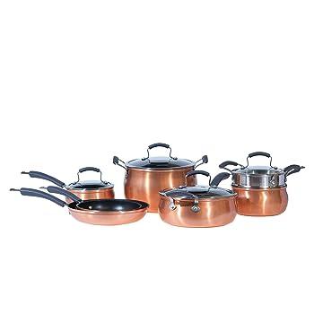 Epicurious Nonstick 11-Piece Copper Cookware Set