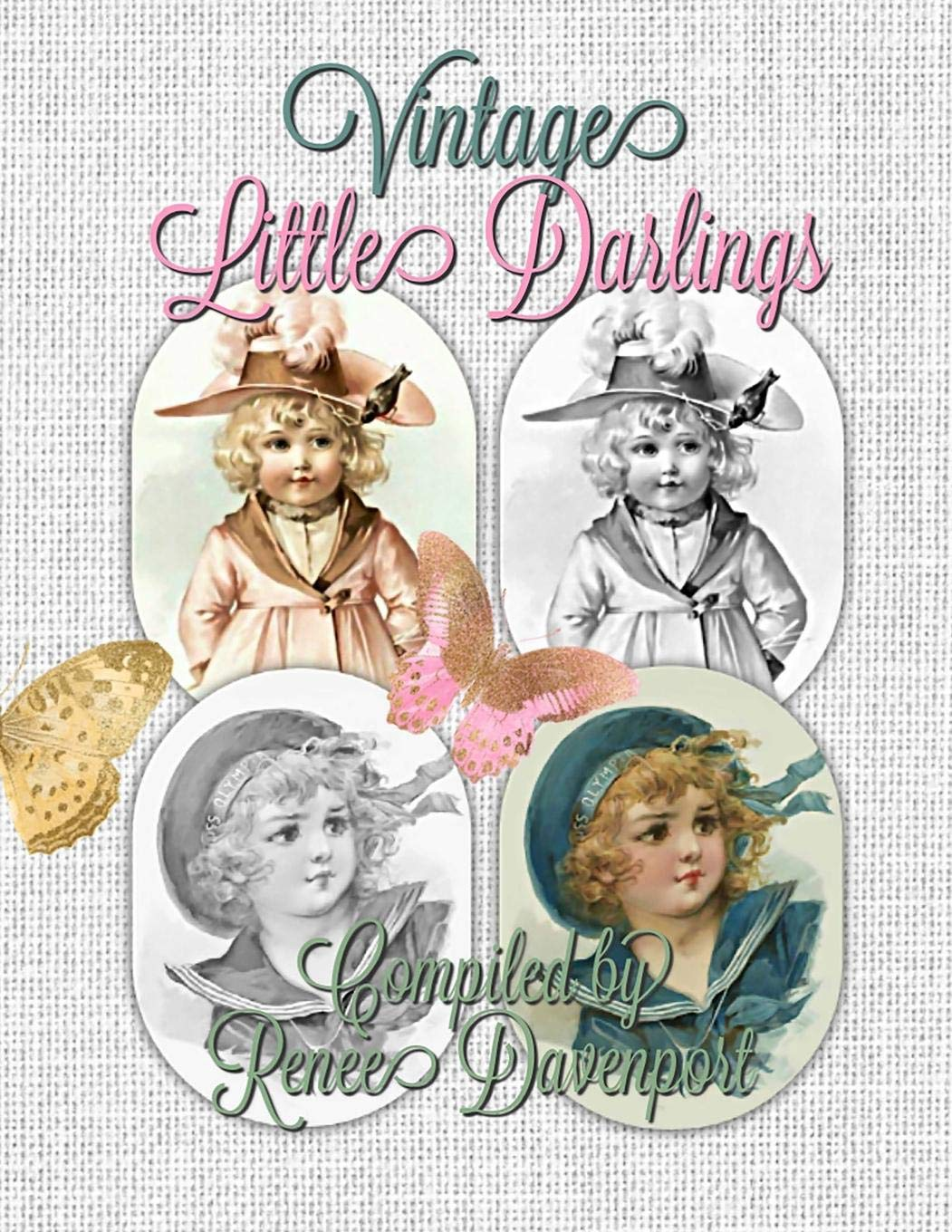 Vintage Little Darlings Grayscale Adult Coloring Book pdf