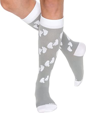 b652b4a4d8 Maternity Compression Socks - Graduated 15-25 mmHg Knee High Pregnancy  Support Stockings by LISH