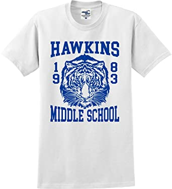 Utopia Sport Stranger Things Inspired Hawkins Middle School 1983 Tiger T- Shirt (S-