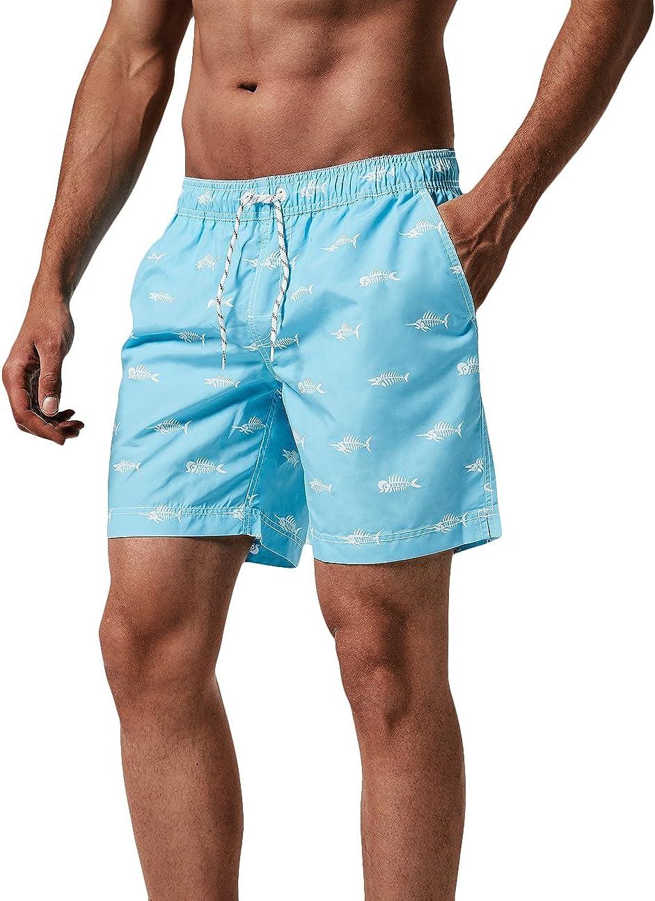 MaaMgic Shorts de baño para Hombre Shorts de Playa Traje de bañode Secado rápido para Vacaciones