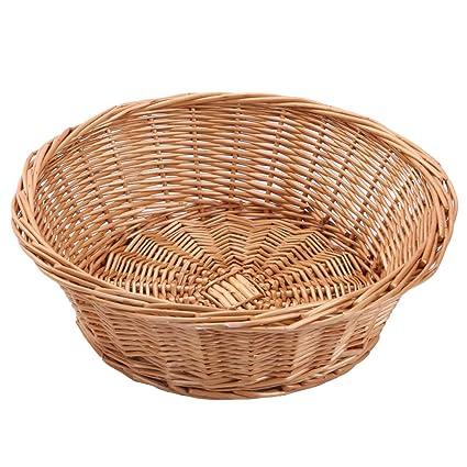 Fruit Bowl, juego de 3, mimbre cesta de frutas pan bandeja, kingwillow.