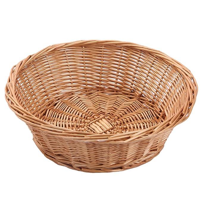 Fruit Bowl, juego de 3, mimbre cesta de frutas pan bandeja, kingwillow., Mimbre, 2 unidades: Amazon.es: Hogar