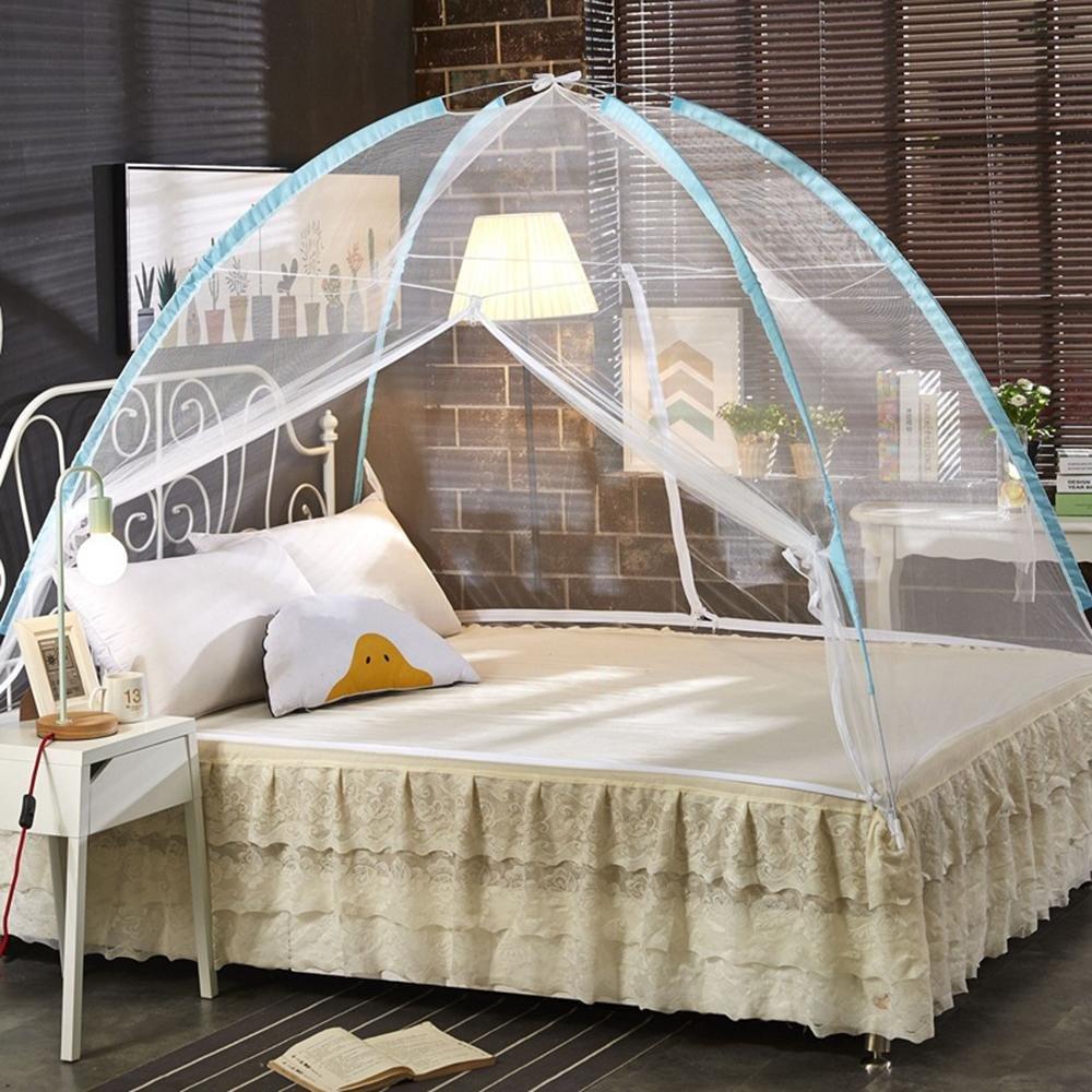 XH Students Moskitonetze yurt freie Installation Doppel-Reißverschluss 1,2 Boden 1,2 Doppel-Reißverschluss m 1,5 m 1,8 m Bettnetze Magie Klapp, XL, 120200cm 508df3