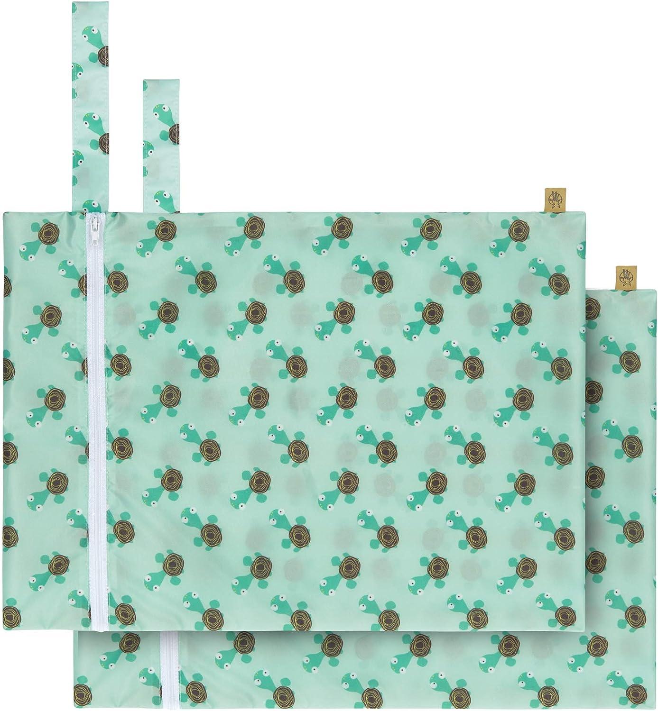 L/ÄSSIG Wet Bag Reusable Washable 2 pcs Wildlife Turtle