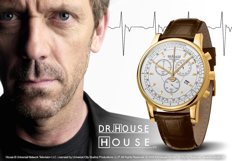 Kronsegler DR.HOUSE Herren Chronograph vergoldet-silbern