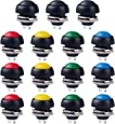 12MM Waterproof Momentary Push Button Switch 15PCS ON- OFF Switch (5 Colors)