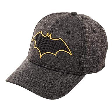 62e3cd1f89 Amazon.com  Batman New 52 Rubber Weld Cationic Flex Cap Baseball Hat Grey   Clothing