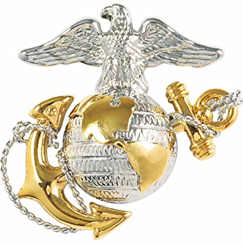Amazon com : Medals of America Marine Corps Officer Dress Hat Badge