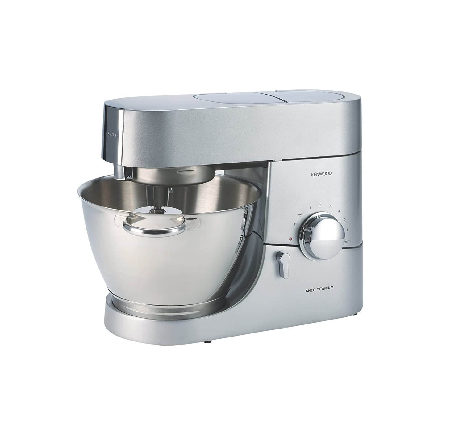 Kenwood KMC011 5 quart Chef Titanium Kitchen Machine, Stainless Steel