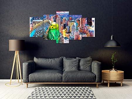 Oedim Pack de 5 Cuadros en Aluminio Pájaros | 100x50cm | Conjunto de Piezas | Decoración del Hogar | Elementos Decorativos de Habitaciones |: Amazon.es: Hogar