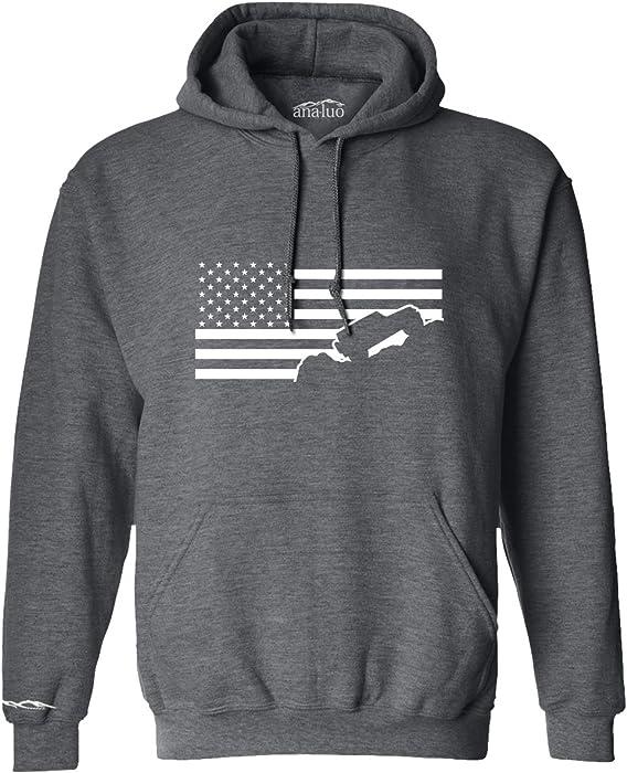 a548bb507 Amazon.com: Jeep Wrangler Hoodie Sweatshirt USA Flag American Flag ...