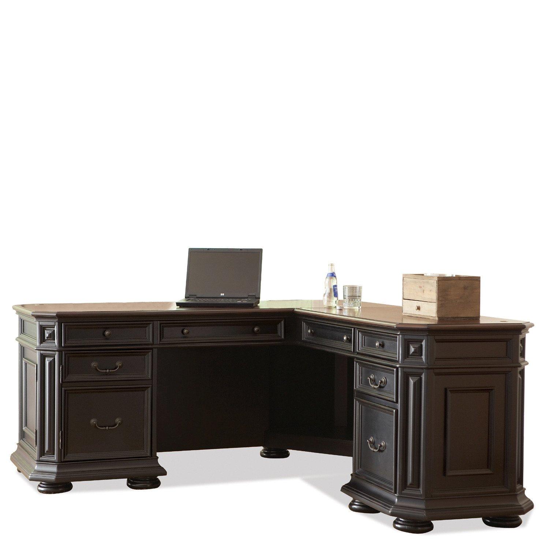 Amazon Com Allegro L Desk W Return Kitchen Dining