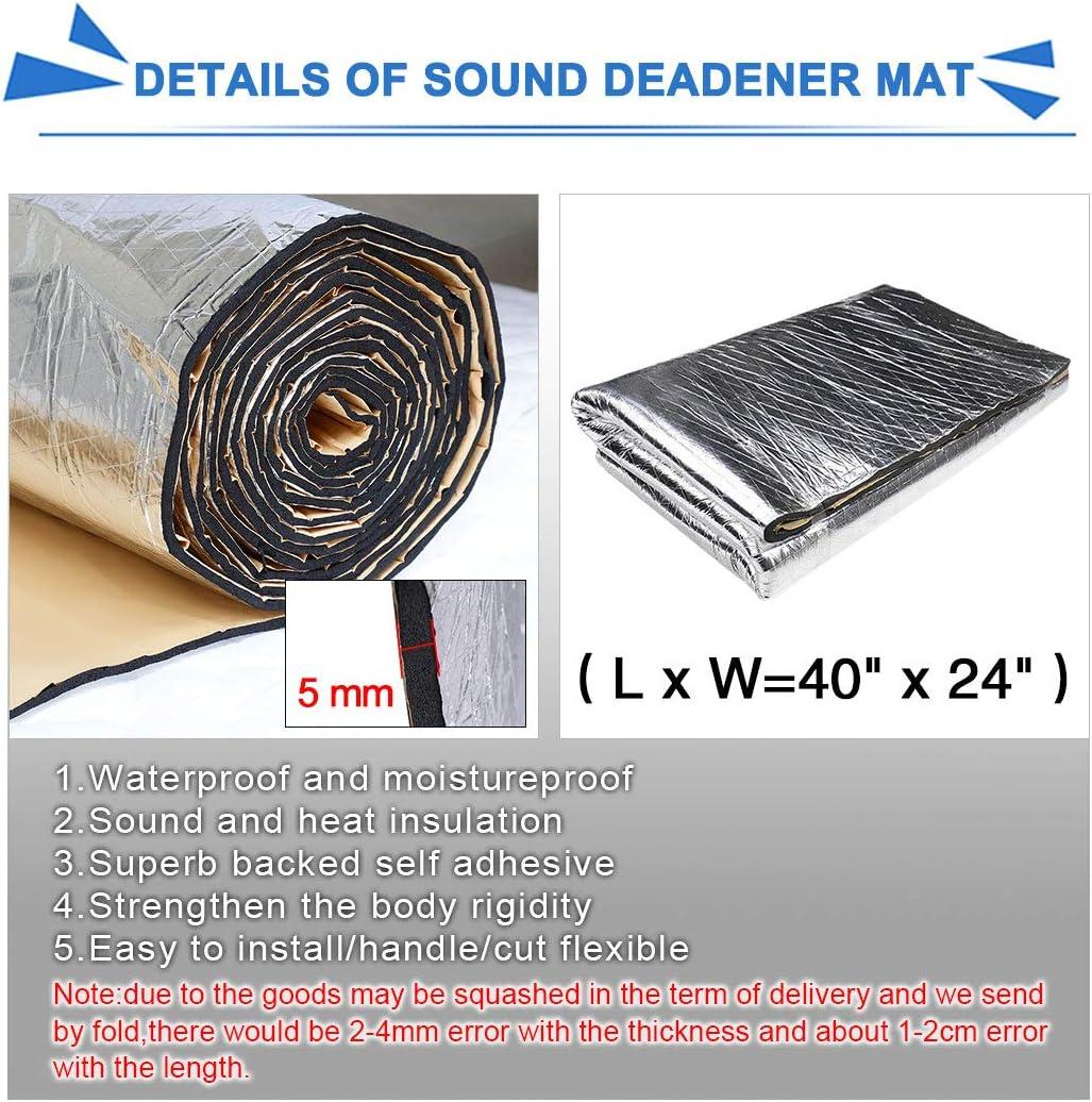 Car Heat Shield Mat Exhaust Muffler Engine Bady Sound Insulation Hood Cotton Pad