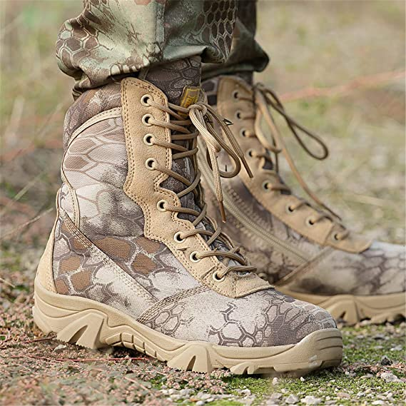 4e017abe4aa83 Amazon.com: DengSha Outdoor Hiking Boots Men Military Tactical Shoes ...