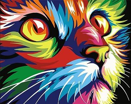 Tirzah Malen Nach Zahlen Mit 3x Bildschirmlupe 40 X 50cm Diy Leinwand Gemälde Für Erwachsene Und Kinder Enthält Acrylfarben Und 3 Pinsel Bunte