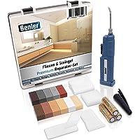 BENLER® NIEUW! - Tegelreparatieset met 2-in-1 wassmelter voor tegels, keramiek en aardewerk, bruintinten, ook geschikt…