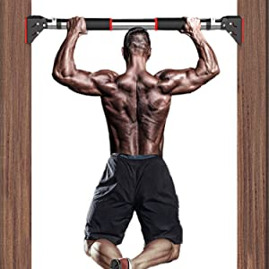 TELEGLO Pull Up Bar, Multifunction Indoor Home Bar,Doorway Exercise Bar,Chin Up Bar Home Gym Equipment, Strength Training Equipment Body Building -Bearing 660 LBS