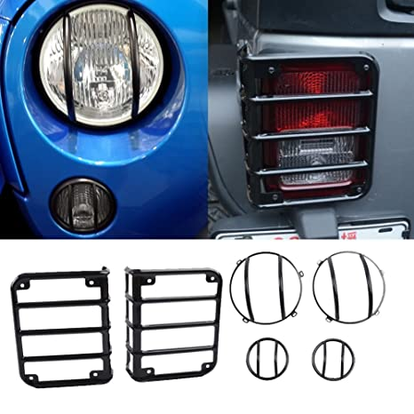 MAIKER Jeep Wrangler Tail Light Cover Jeep Tail Light Guards Protectors  Covers For Jeep Wrangler Unlimited ...