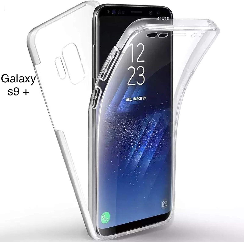 Housse Etui de Protection /à 360 degr/és Bumper Anti Choc Ultra Fine Integral Galaxy S9+,Ultra Mince Case Cover Clair ACgsm Coque Transparente Samsung Galaxy S9 Plus Silicone Gel TPU Souple
