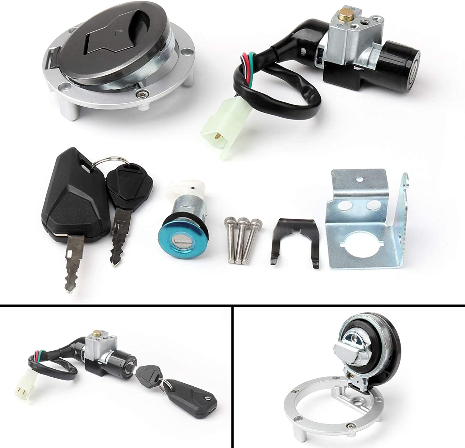 Areyourshop Ignition Switch Fuel Gas Cap Cover Key Lock Set For GROM MSX125SF 2016