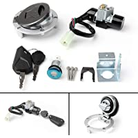 Areyourshop Ignition Switch Fuel Gas Cap Cover Key Lock Set for Hon-da GROM MSX125SF 2016